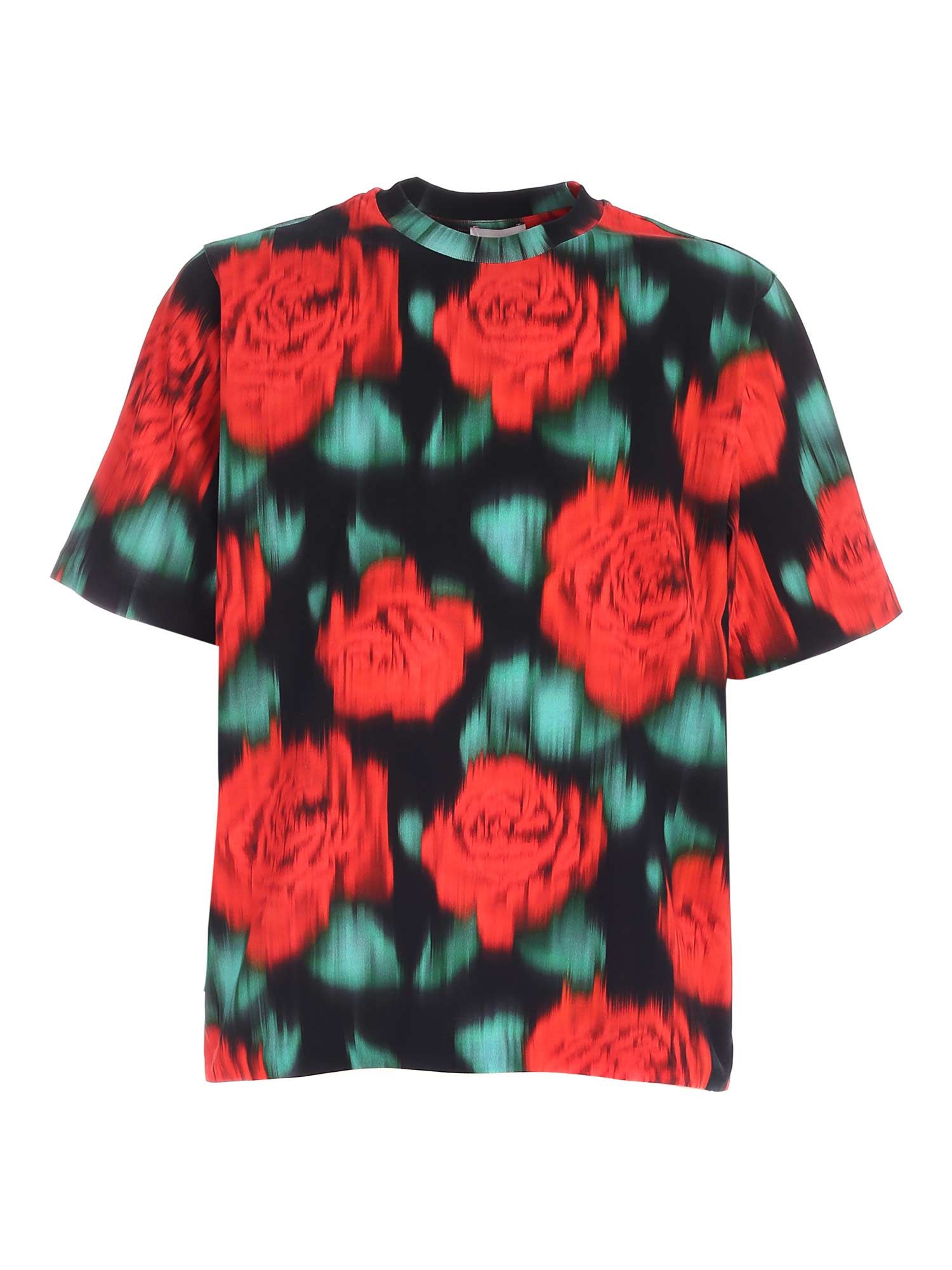 Kenzo PRINT SKATE T-SHIRT IN BLACK AND RED