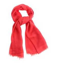 Faliero Sarti - Fringed edges scarf in red