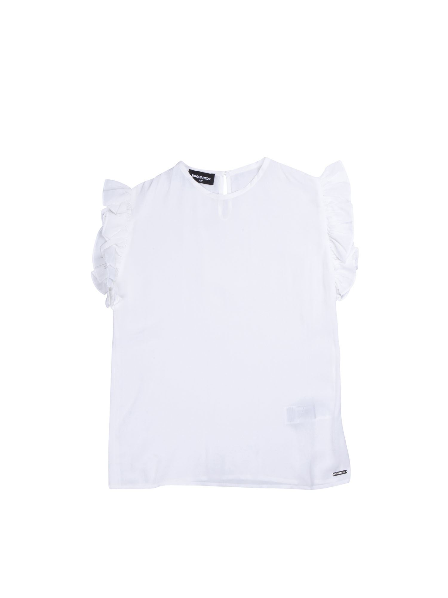 Dsquared2 RUFFLED TOP IN WHITE