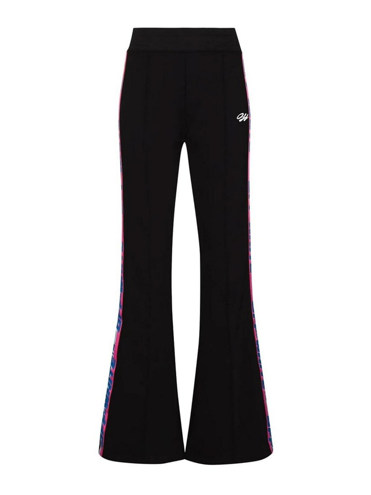 Off-White FLARED TROUSERS IN BLACK