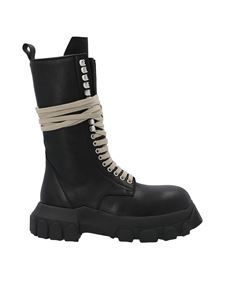 Rick Owens - Laceup Bozo Tractor boots in black