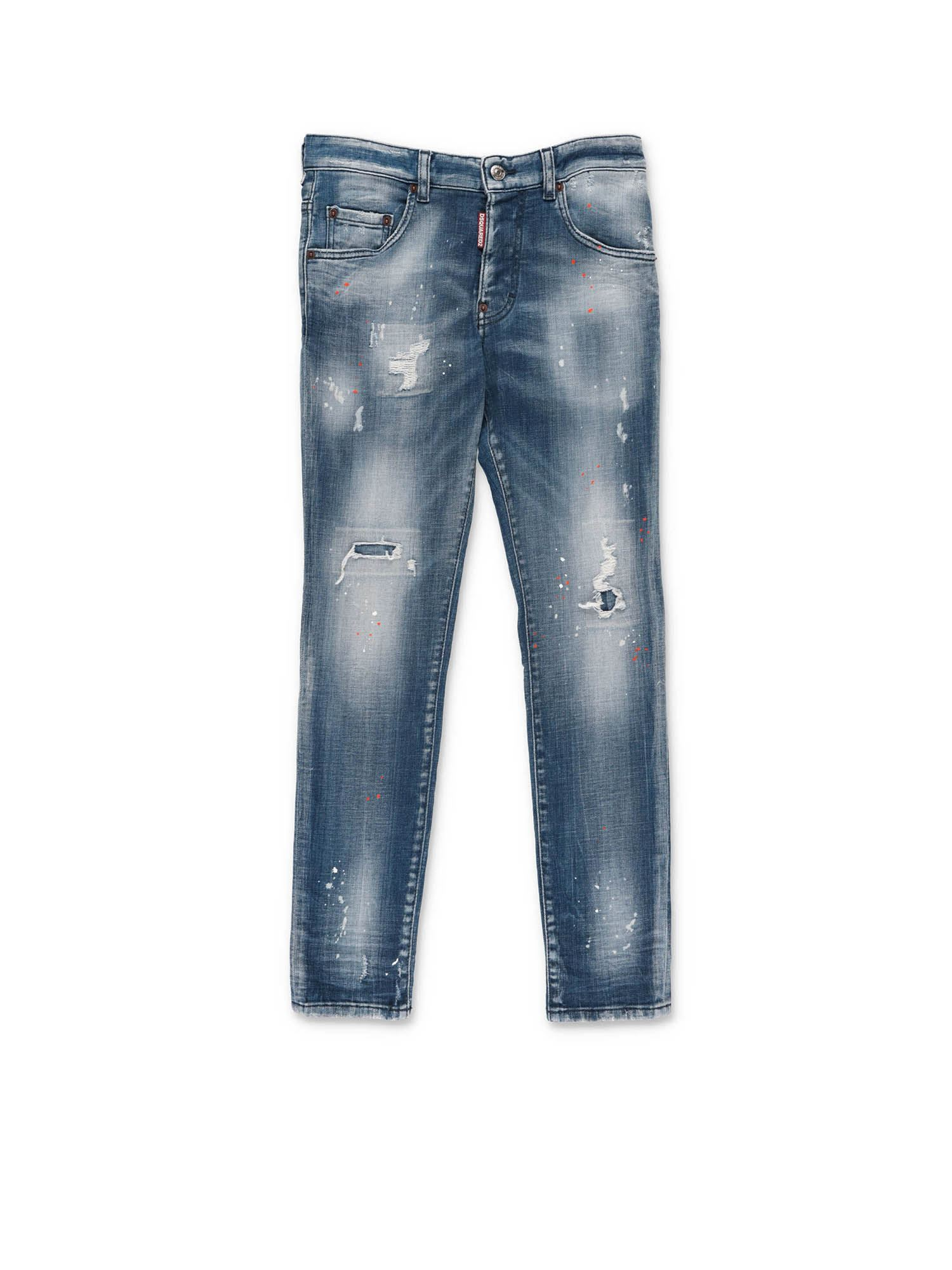 Dsquared2 FIVE-POCKET JEANS IN BLUE