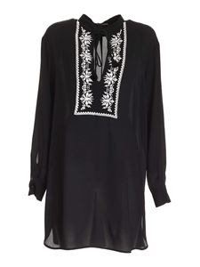True Royal - Embroidery shirt in black