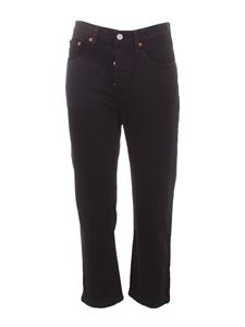 Levi's - 501 crop jeans in black