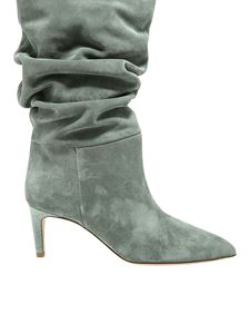 Paris Texas - Suede pointed boots in green