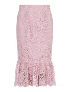 Dolce & Gabbana - Lace longuette skirt in pink