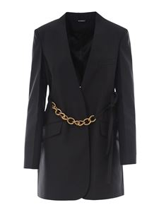 Givenchy - Chain detailed wool blazer in black