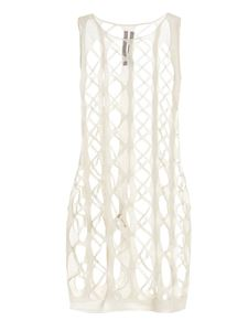 Rick Owens - Net tank dress in white