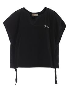Marni - Logo embroidery cotton t-shirt in black