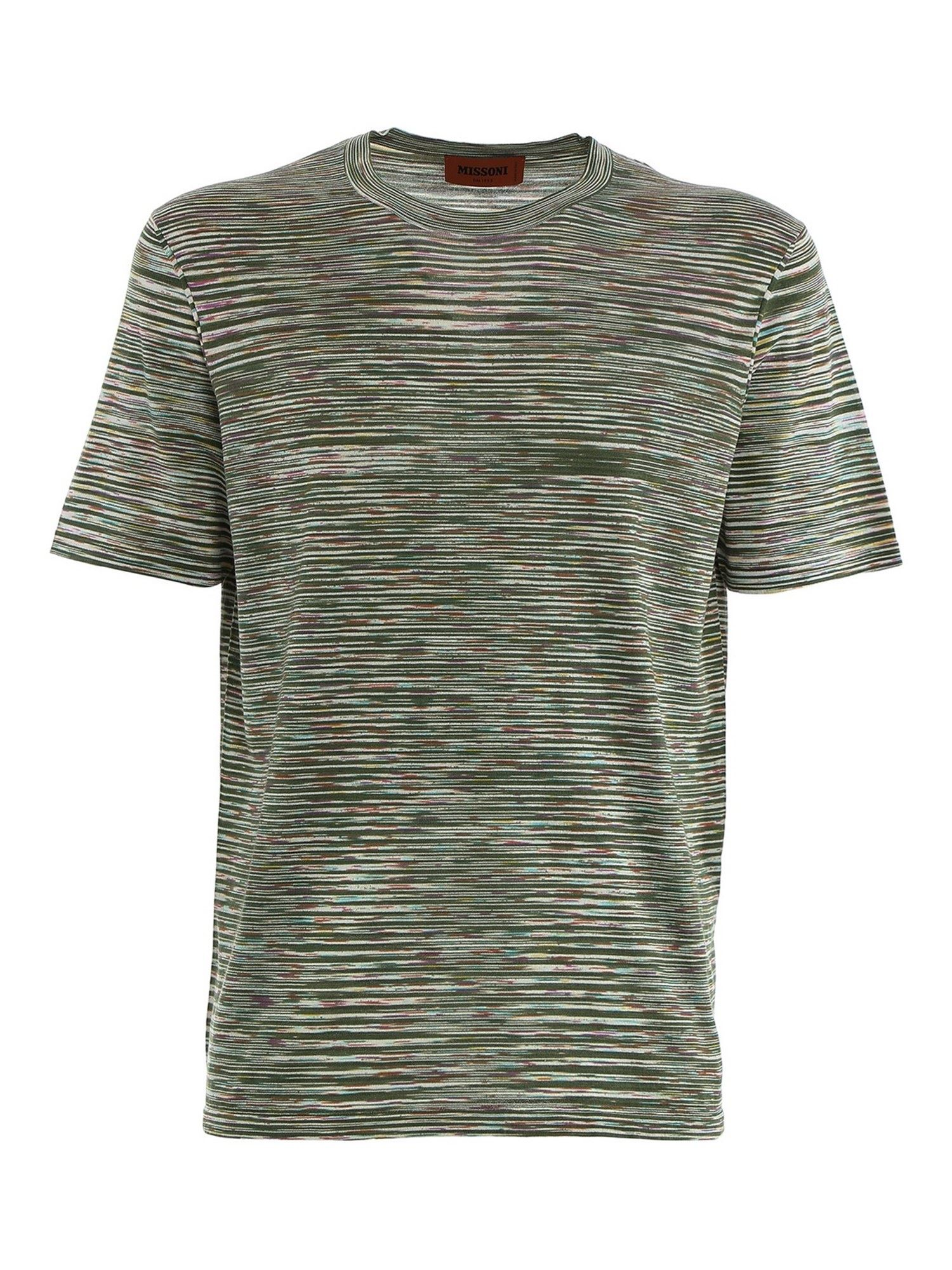 Missoni KNITTED T-SHIRT IN GREEN
