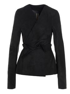Rick Owens - Wrap jacket in black