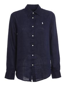 POLO Ralph Lauren - Linen shirt in blue
