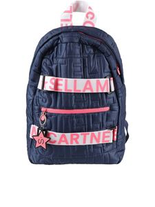 Stella McCartney Kids - Quilted logo backpack in blue