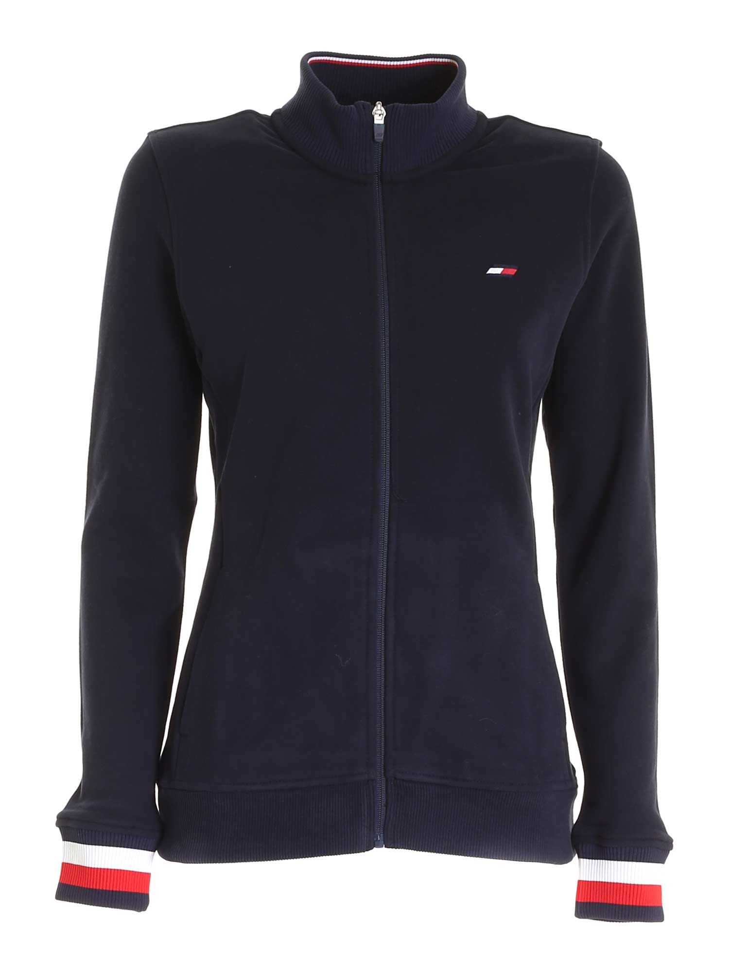 Tommy Hilfiger LOGO EMBROIDERY SWEATSHIRT IN BLUE
