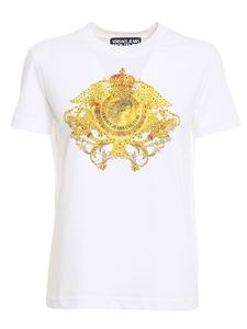 Versace Jeans Couture - Golden logo T-shirt in white