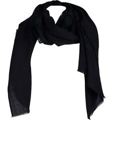 Twin-Set - Inlaid lace stole in black