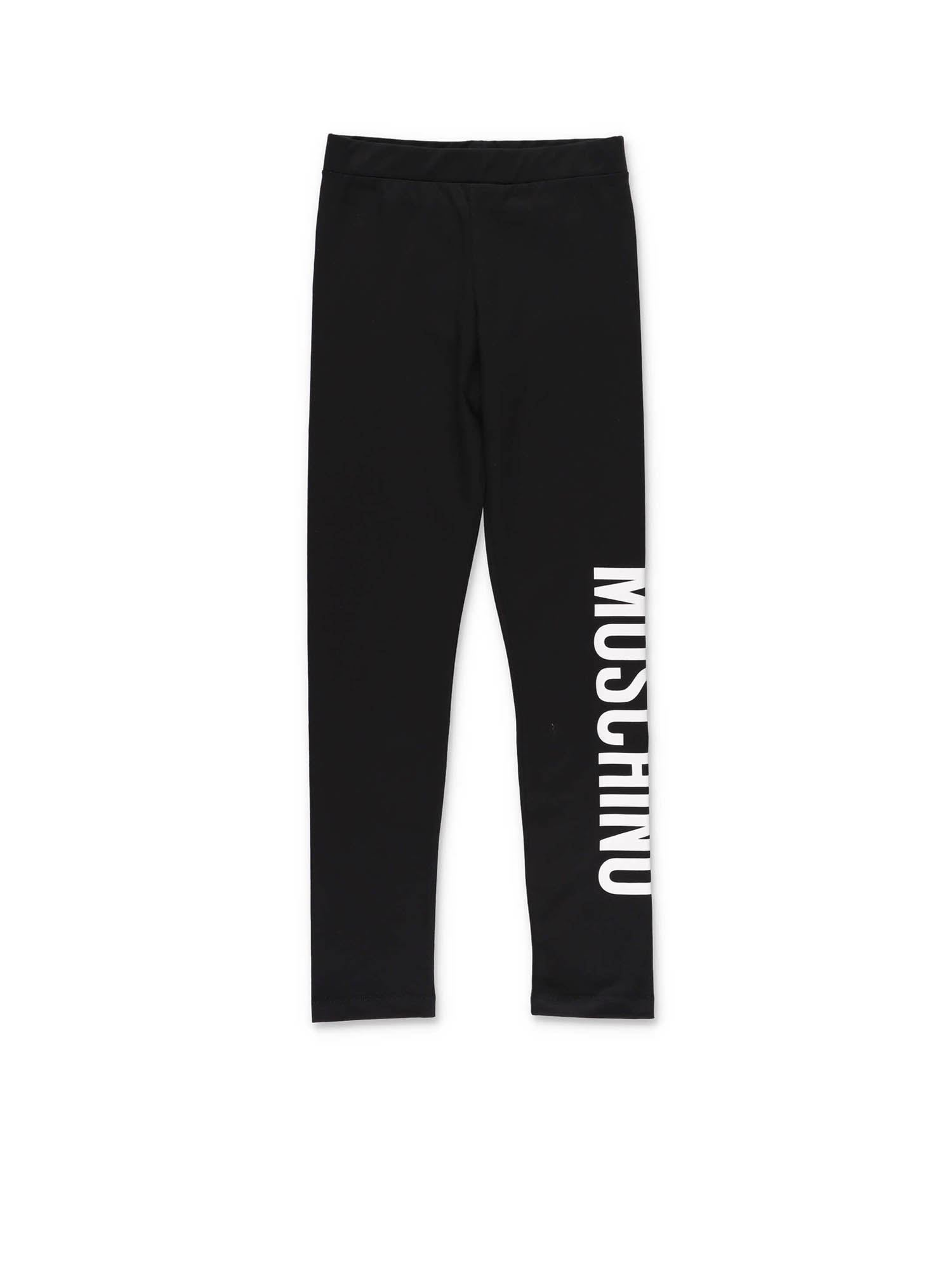 Moschino LOGO LEGGINGS IN BLACK