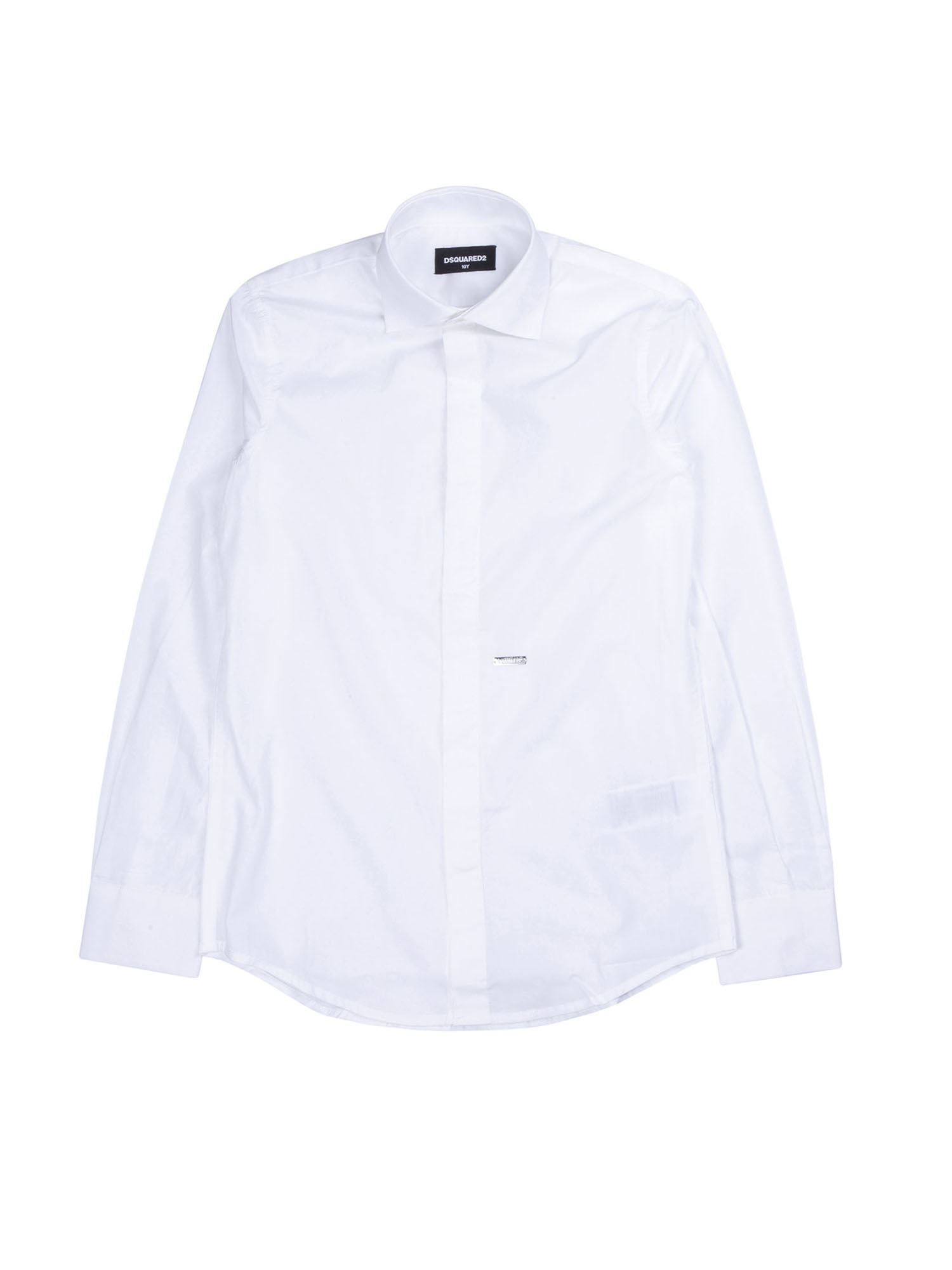 Dsquared2 COTTON SHIRT IN WHITE