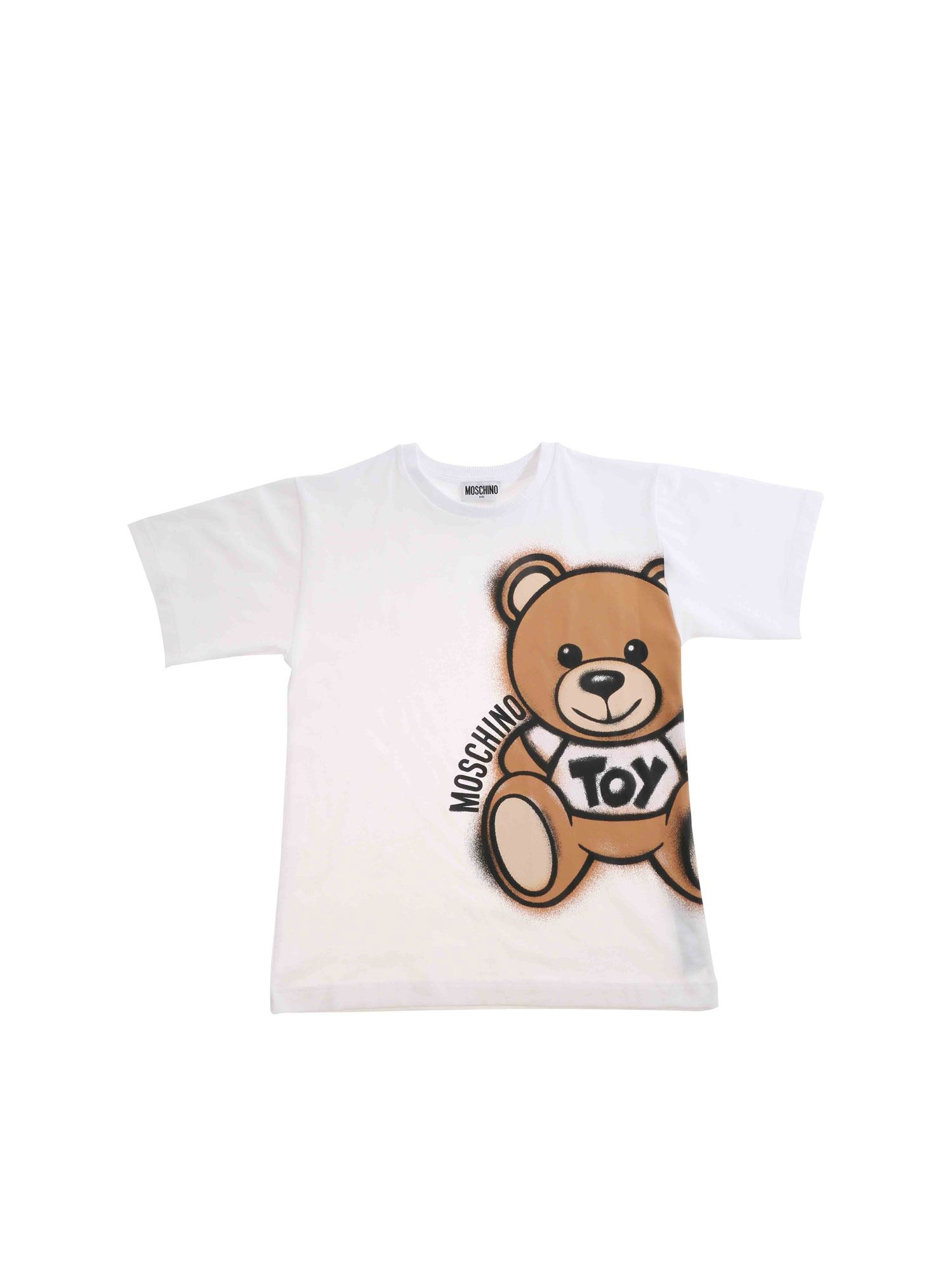 Moschino WHITE TEDDY SPRAY MAXI T-SHIRT