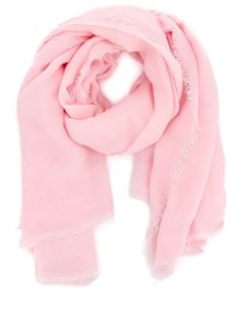 Faliero Sarti - Modal-silk blend fringed scarf in pink