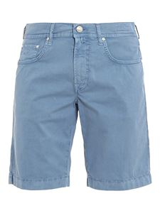 Jacob Cohën - Shorts in cotone stretch vintage azzurro