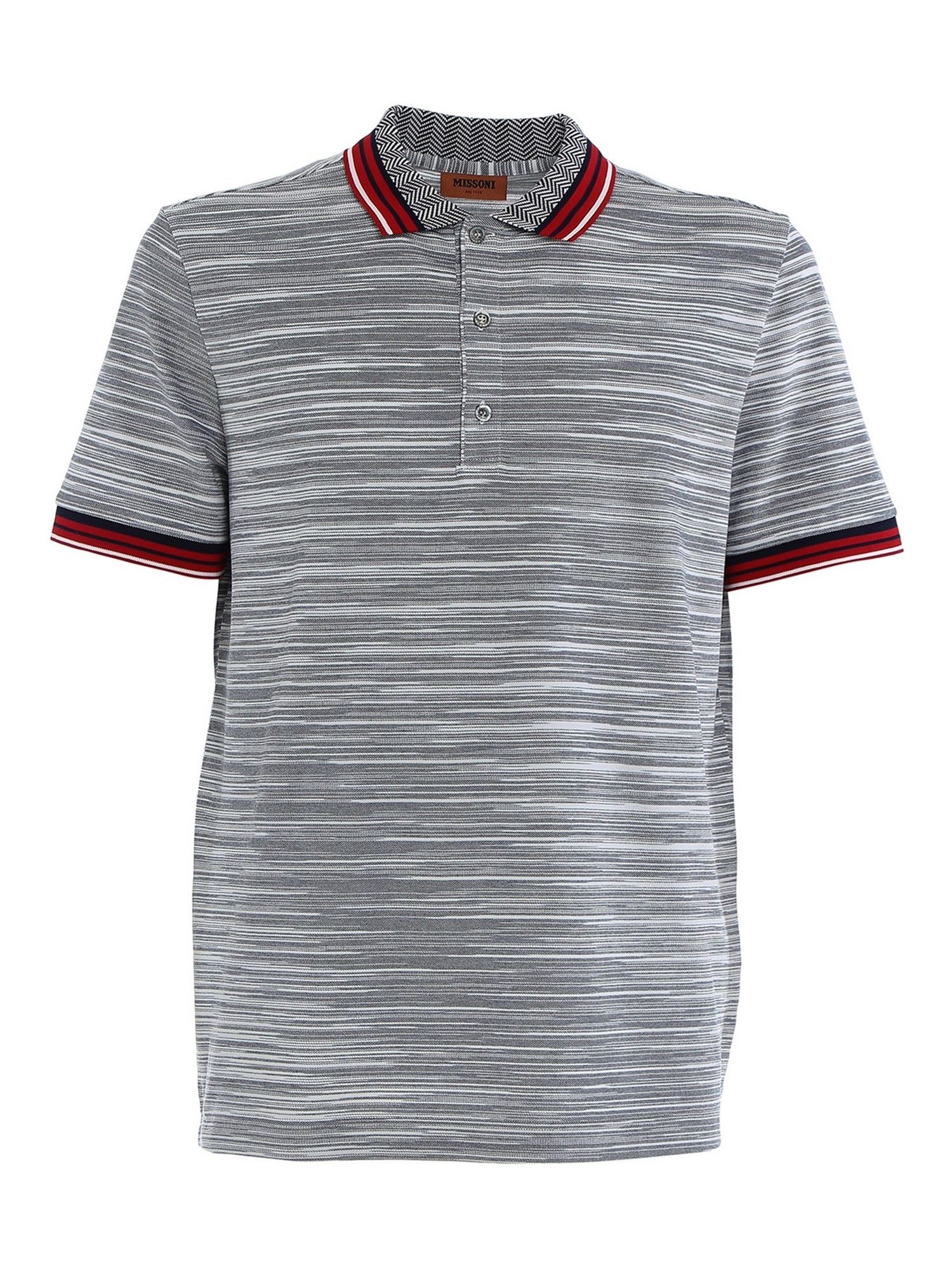Missoni Cottons KNITTED COTTON POLO SHIRT IN MULTICOLOR