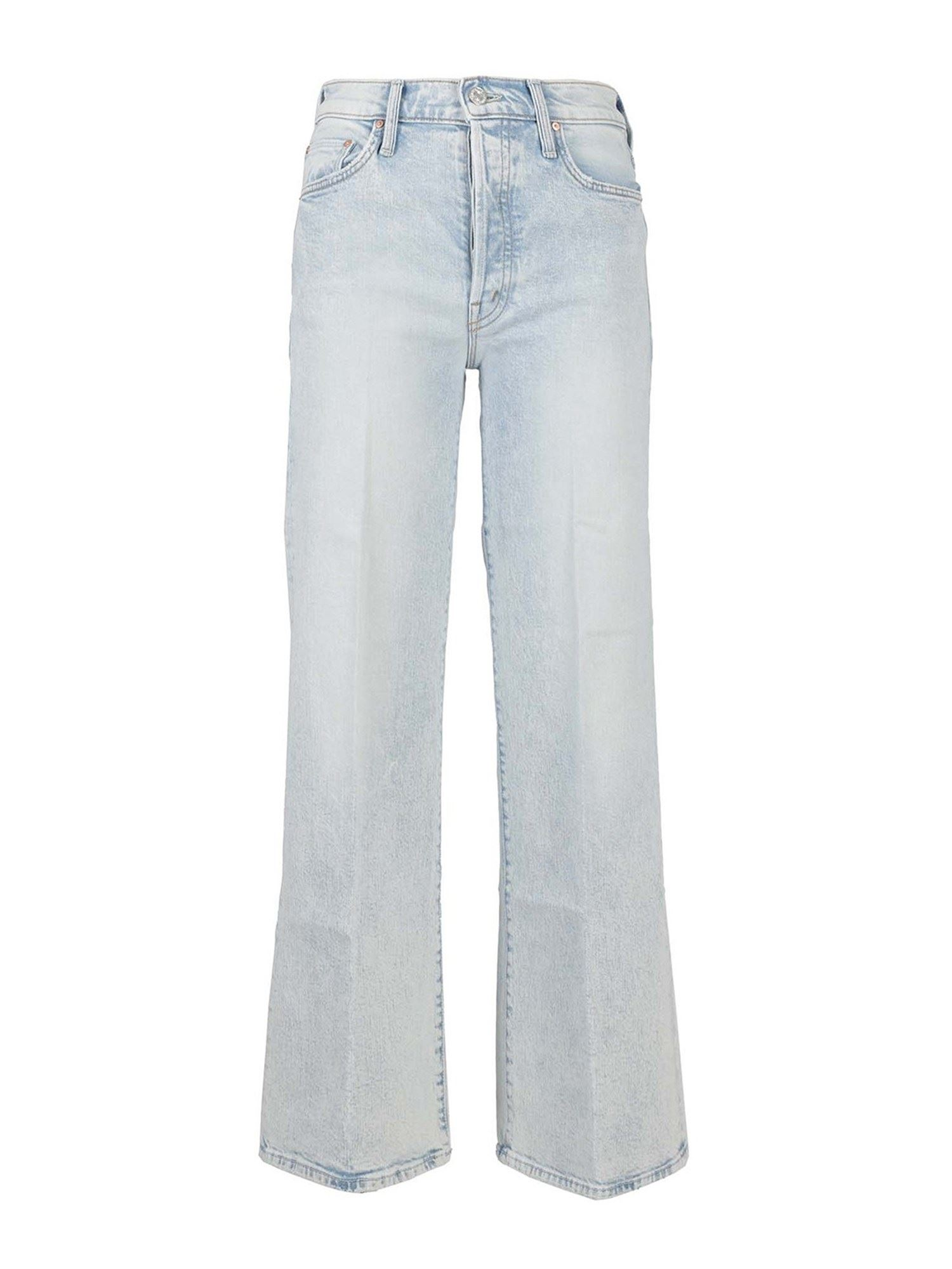 Mother FADED DENIM JEANS IN LIGHT BLUE