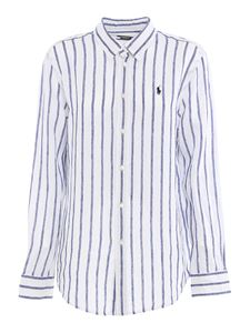 POLO Ralph Lauren - Striped linen shirt in white