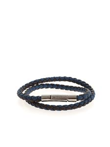 Tod's - Weave bracelet in blue and brown