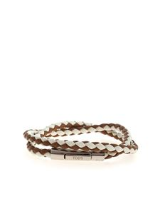 Tod's - Weave bracelet in brown and white