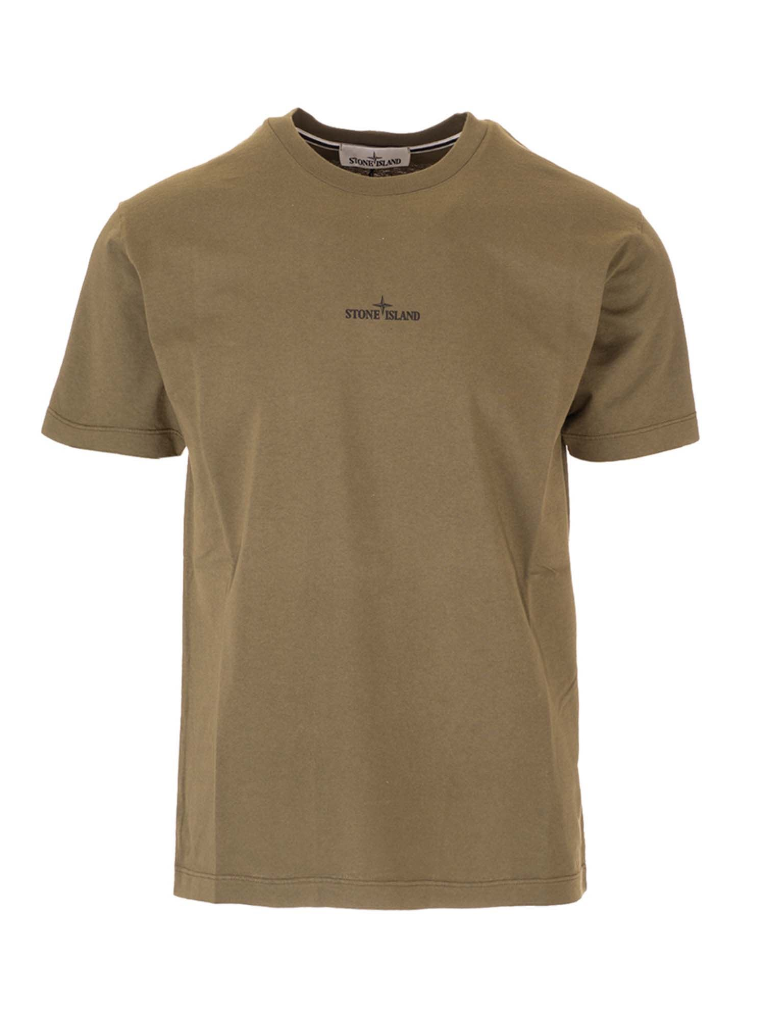 Stone Island MARBLE THREE T-SHIRT IN OLIVE GREEN