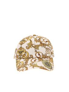 Versace Jeans Couture - Logo Baroque print cap in white