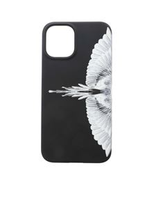 Marcelo Burlon County Of Milan - Wings Iphone 12 cover in black and white
