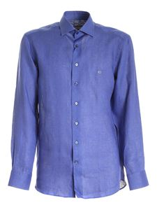 Etro - Logo embroidery shirt in blue