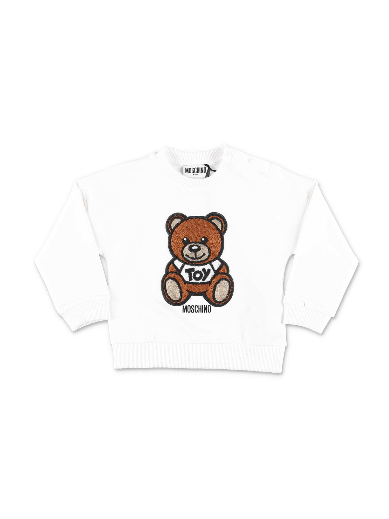 Moschino TEDDY BEAR SWEATSHIRT IN WHITE