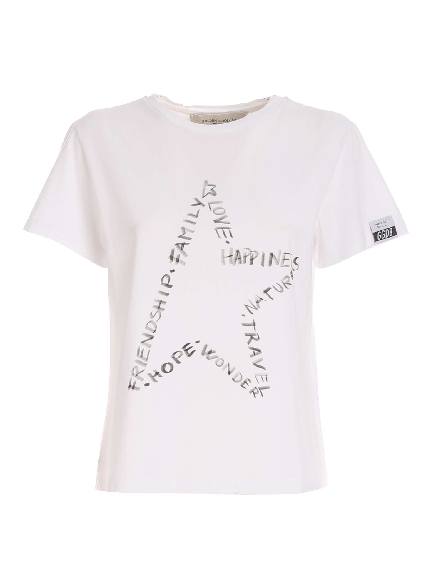 Golden Goose Cottons ANIA T-SHIRT IN WHITE