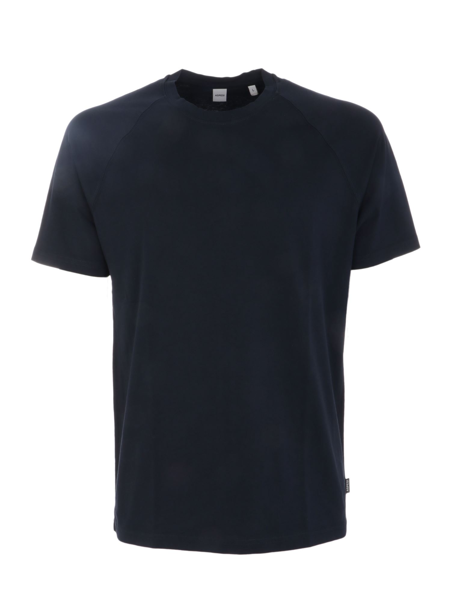 Aspesi LOGO LABEL T-SHIRT IN BLUE