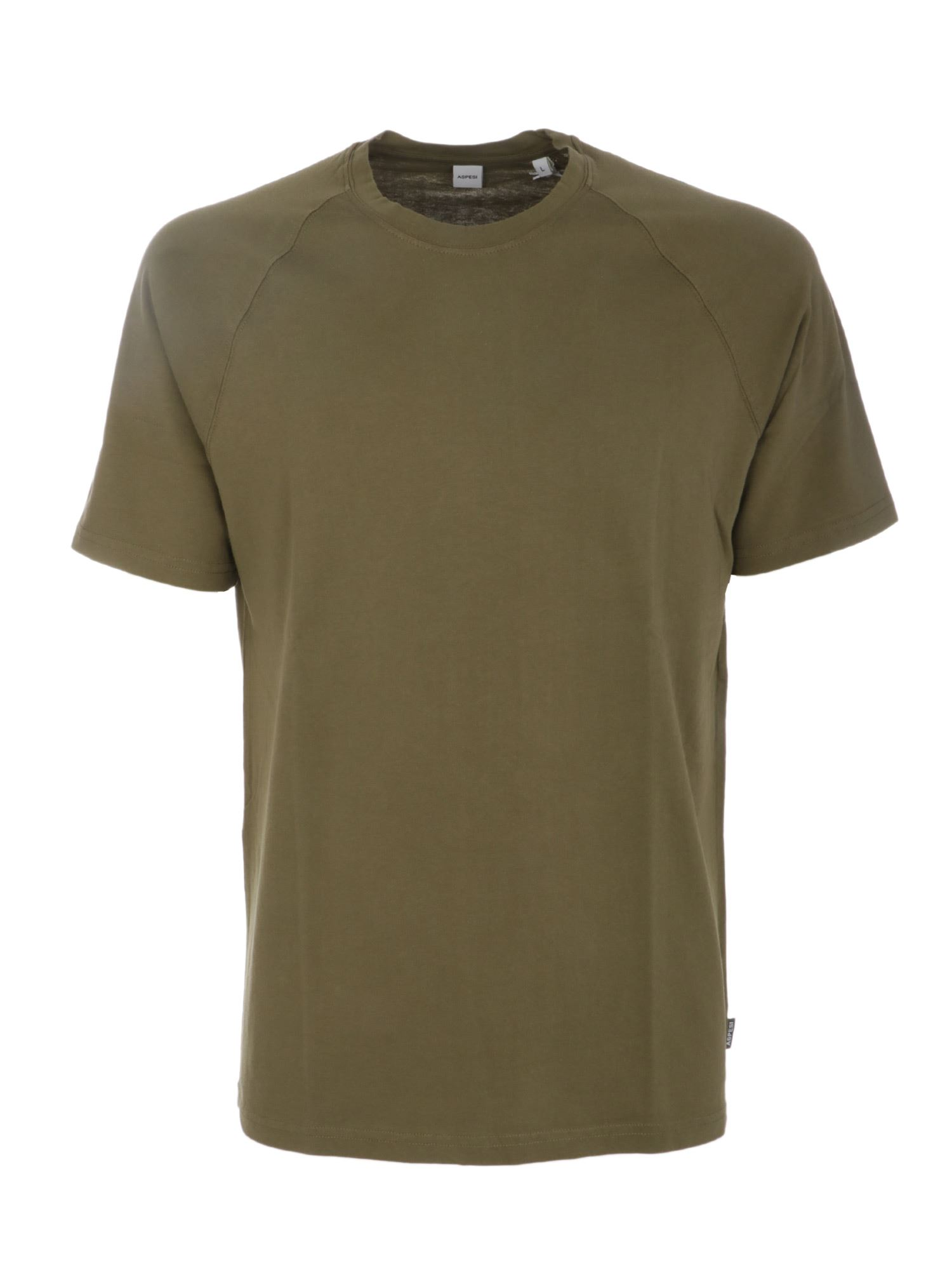 Aspesi LOGO LABEL T-SHIRT IN GREEN