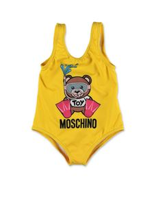 Moschino Kids - Swimmer Teddy Bear swimwear in yellow