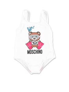 Moschino Kids - Swimmer Teddy Bear swimwear in white