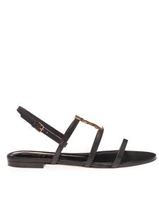 Saint Laurent - Cassandra flat sandals in black