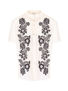 Saint Laurent - Floral embroidery shirt in white