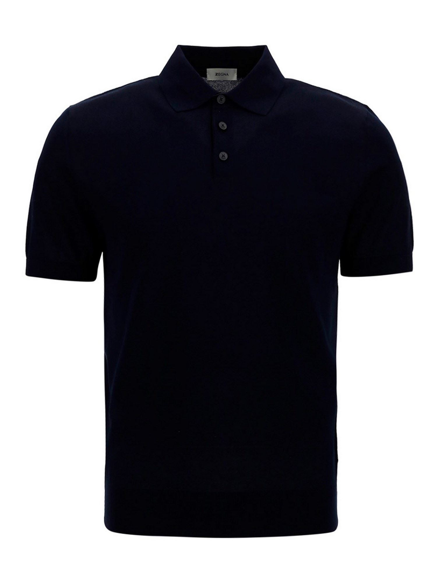 Z Zegna Cottons COTTON POLO SHIRT IN BLUE