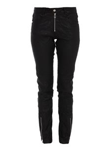 Zadig & Voltaire - Zipped ankle lambskin trousers in black