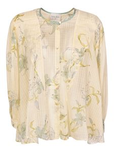 Forte Forte - Floral printed shirt in cream color