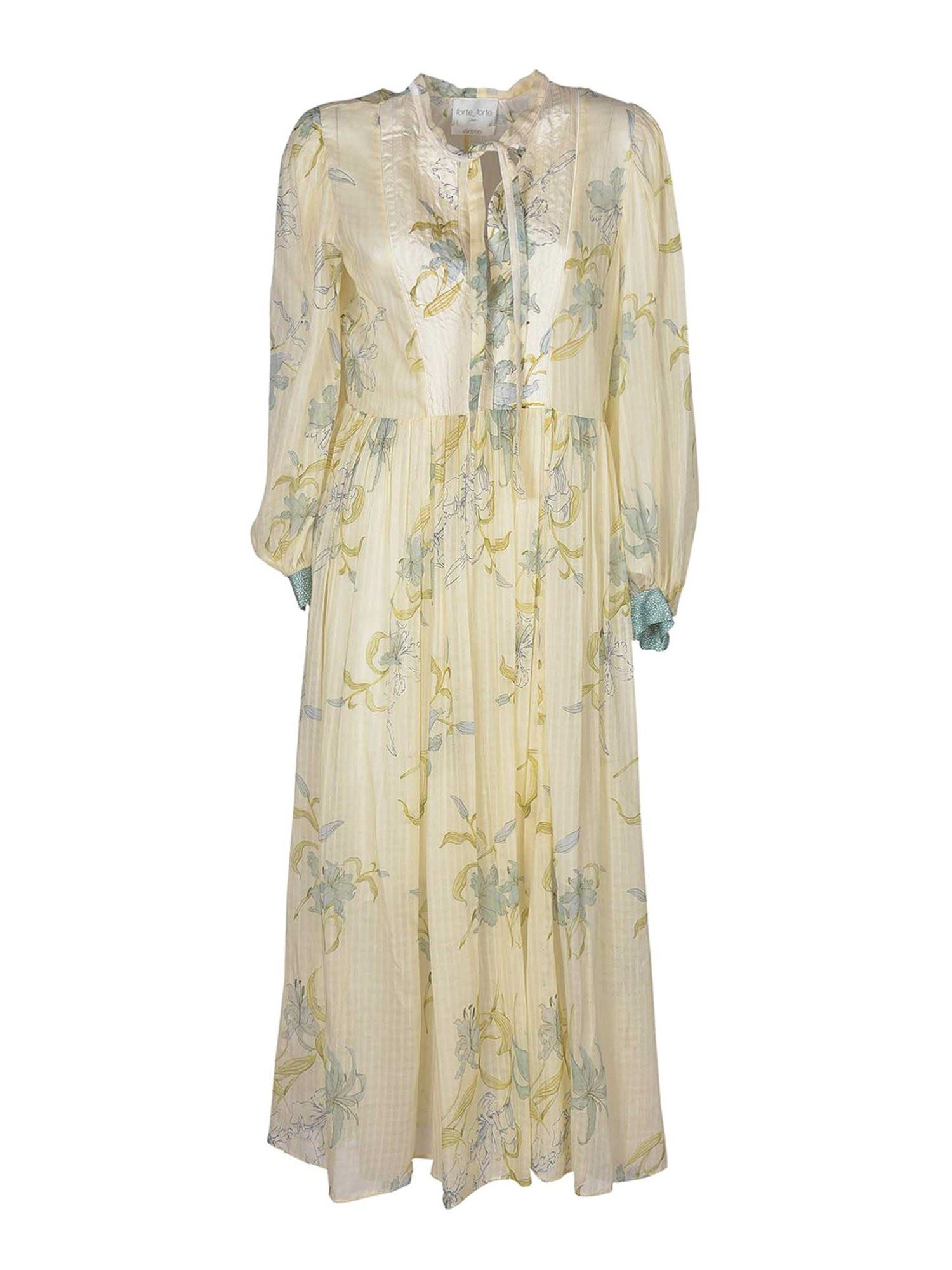 Forte Forte FLORAL PRINTED DRESS IN CREAM COLOR