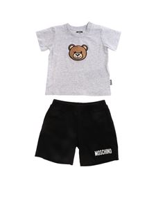 Moschino Kids - Logo tracksuit in grey and black