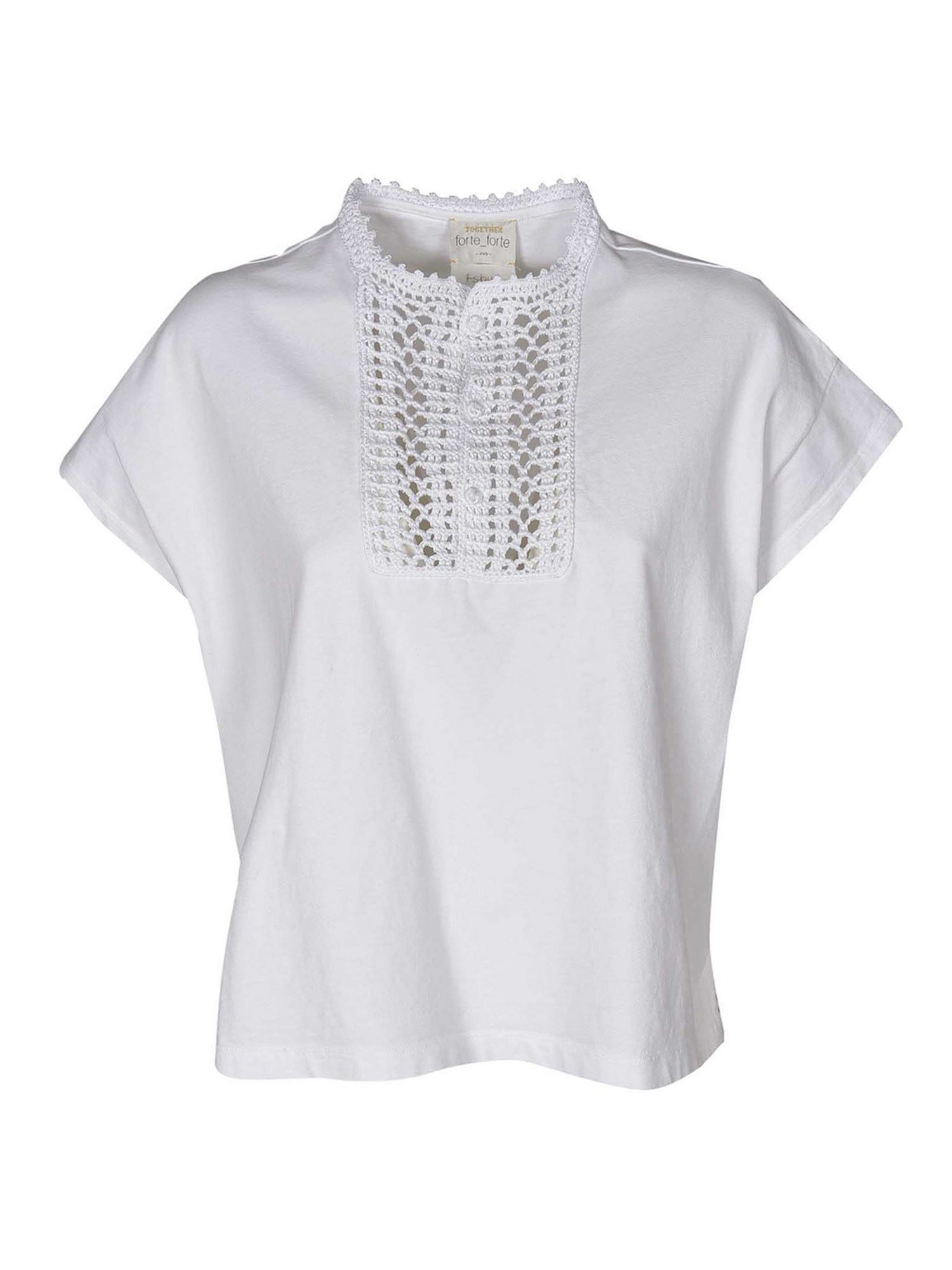 Forte Forte JERSEY TOP IN WHITE