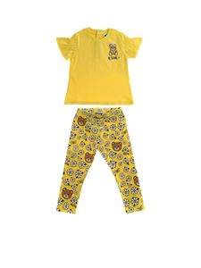 Moschino Kids - Completo T-shirt e leggings giallo