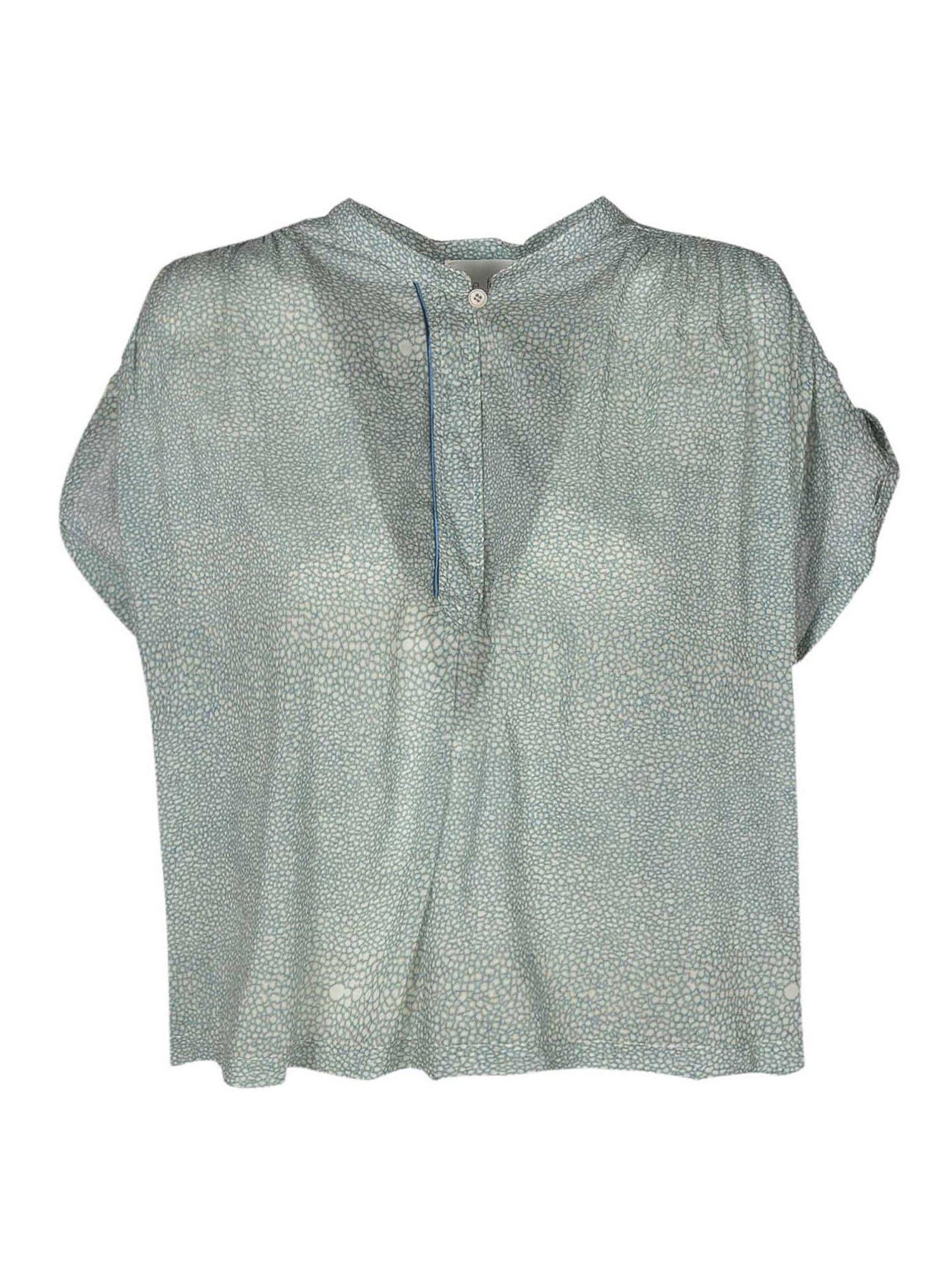 Forte Forte PRINTED TOP IN LIGHT BLUE